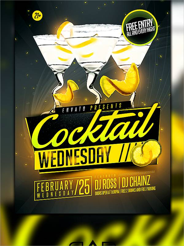 Free Cocktail Party Flyer