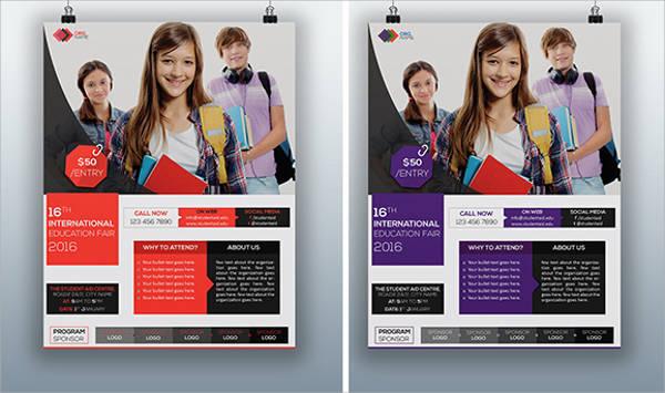Free Education Fair Event Flyer