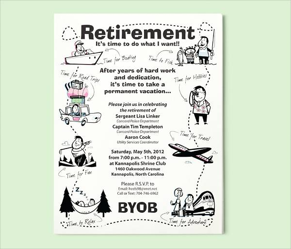 Free Retirement Party Flyer