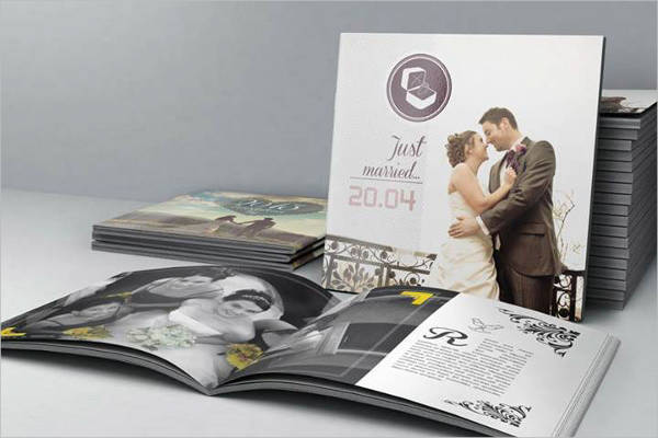 fresh wedding photo album