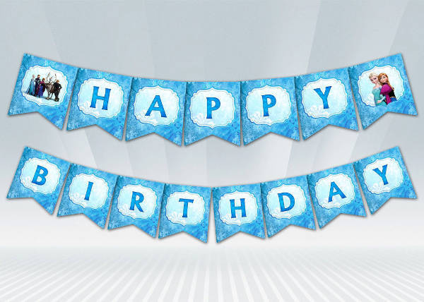frozen printable birthday banner