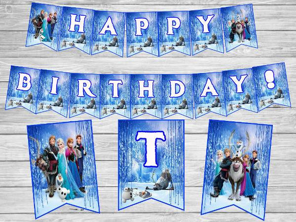 Frozen Printable Party Banner