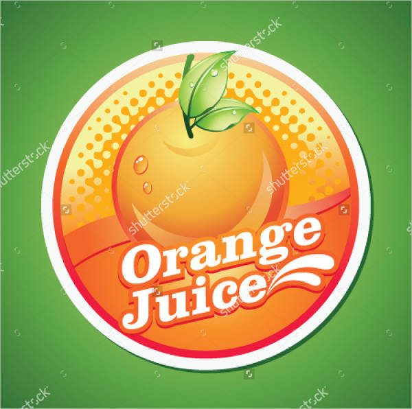 fruit juice bottle label