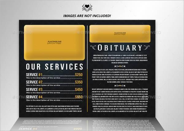 Funeral Service Bifold Brochure