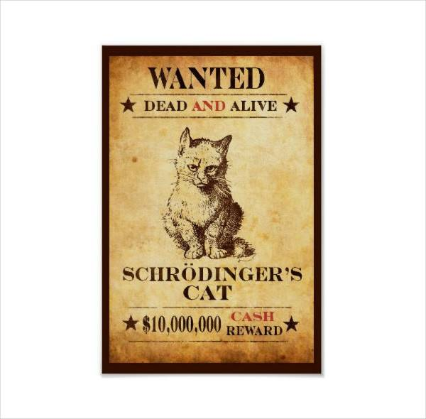funny wanted reward poster