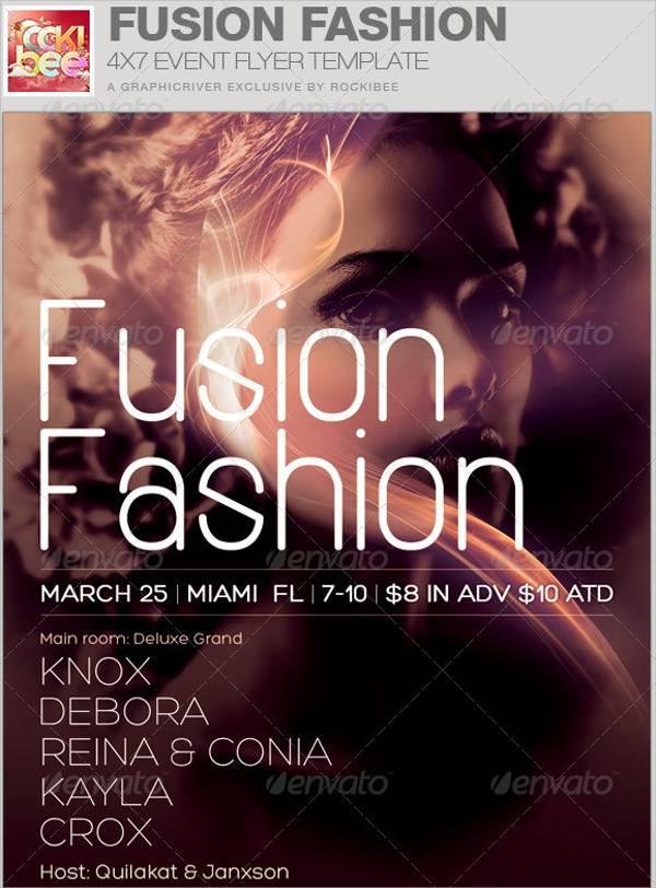 Fusion Fashion Event Flyer
