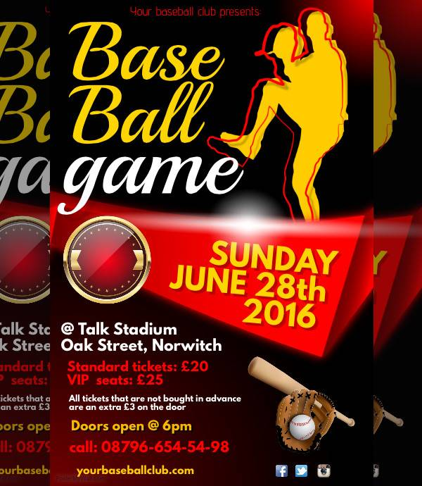 game sports event poster