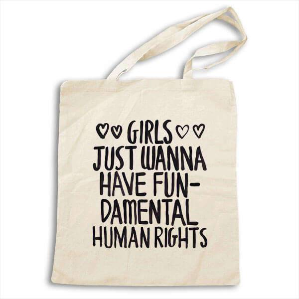 girls just want to have fundamental rights tote bag