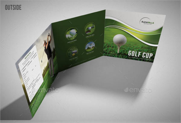 Golf Cup Event Square Trifold Brochure