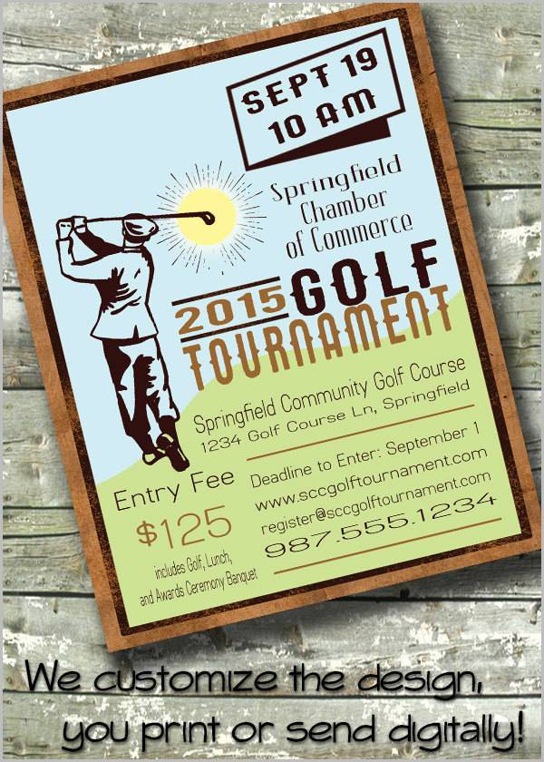 Golf Event Invitation Flyer