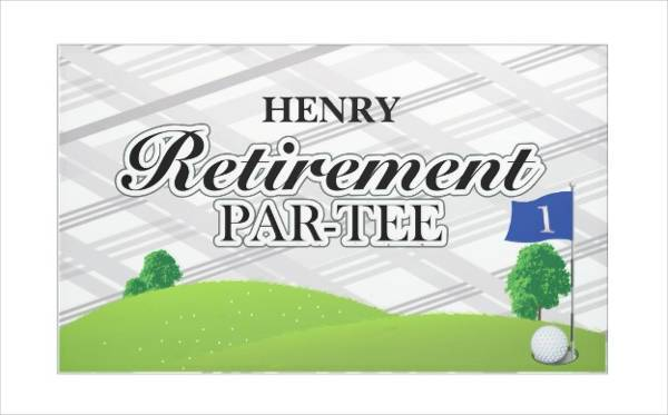 golf retirement party banner