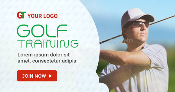 golf training banner