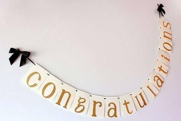 Graduation Congratulations Party Banner