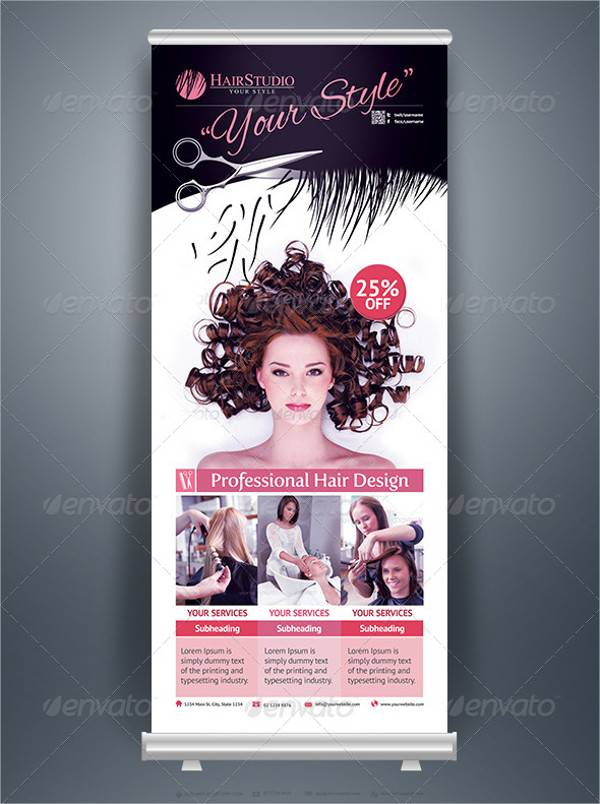 29 Roll Up Banner Designs Psd Ai Eps Vector Design
