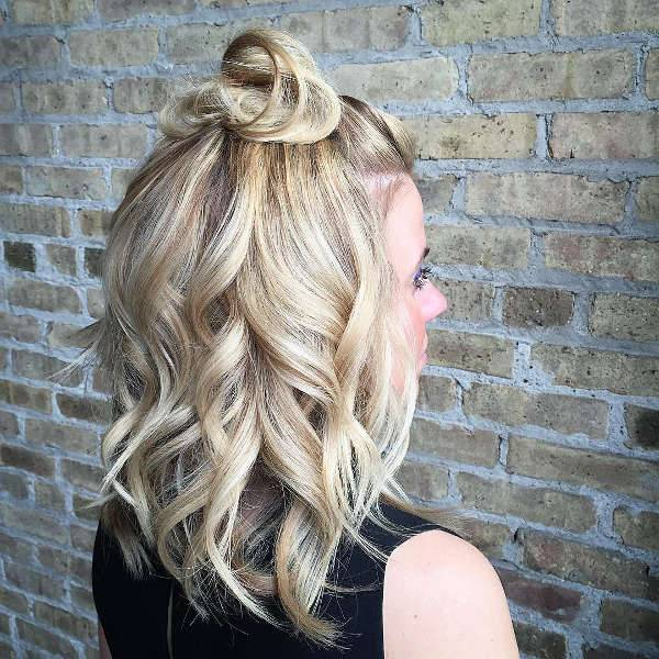 Half Up Half Down Bun Hairstyle Trends
