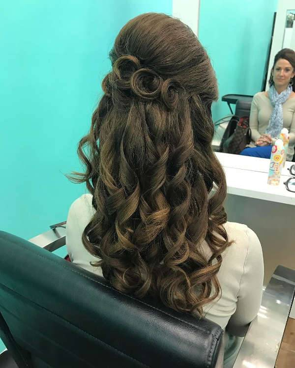 Half Up Half Down Formal Hairstyle