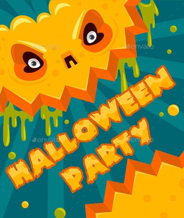halloween party pumpkin banner