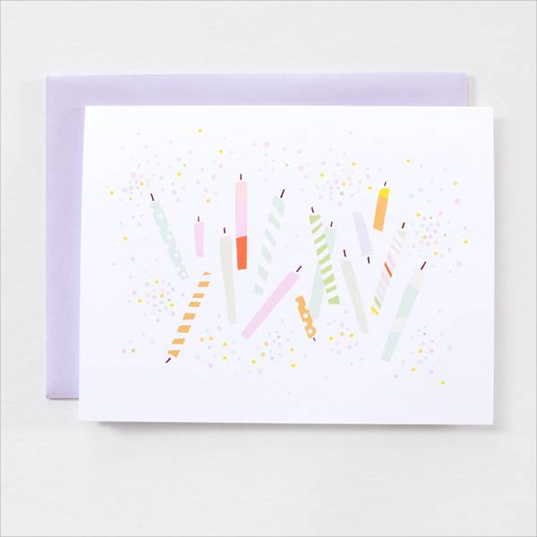 happy birthday party note card