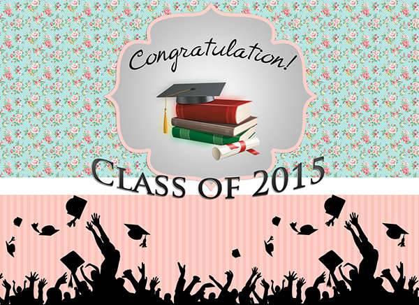 Happy Graduation Roll Up Banner