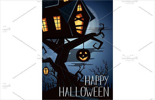 happy halloween party banner