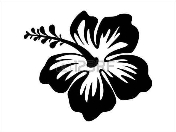 hawaiian flower silhouette