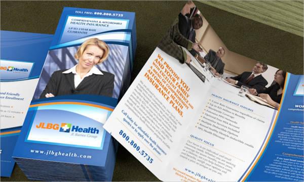 Health Insurance Company Tri Fold Brochure Design