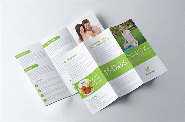 Healthcare and Fitness Tri-Fold Brochure