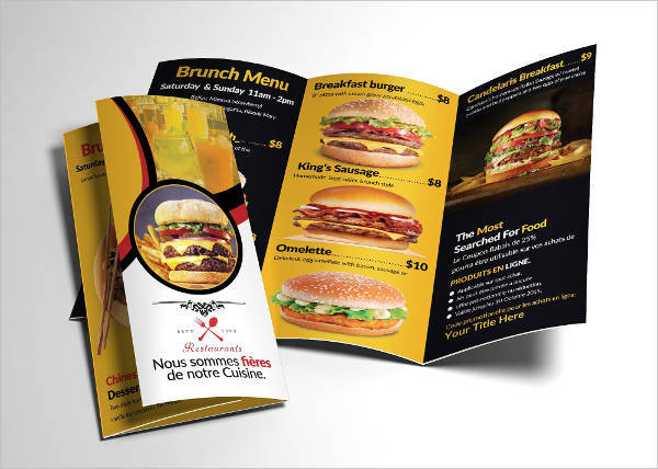 Healthy Food Menu Brochure