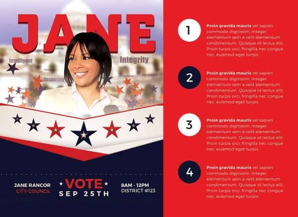 campaign mailer template - 10 political flyer templates printable psd ai vector