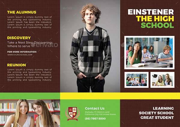 High School Trifold Brochure
