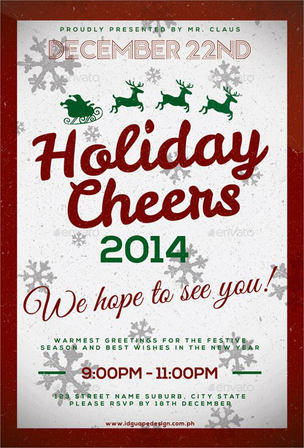 Holiday Cheers Event Flyer
