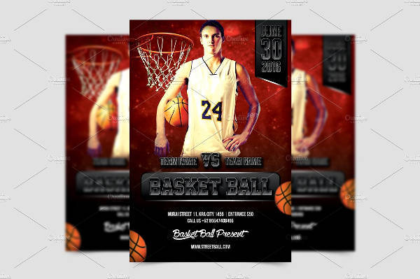 Hoop Basketball Sports Flyer