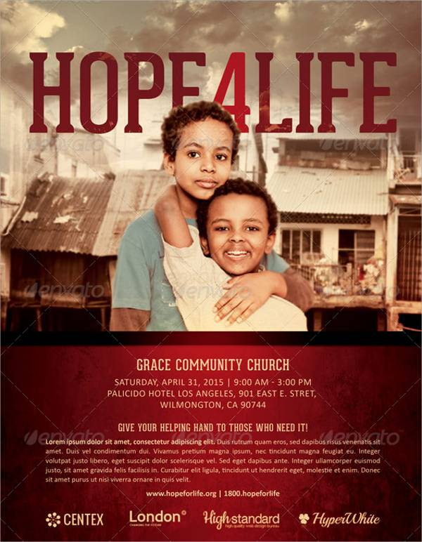 Hope4Life Charity Event Flyer