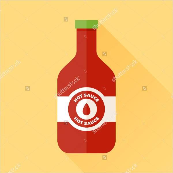 hot sauce bottle label