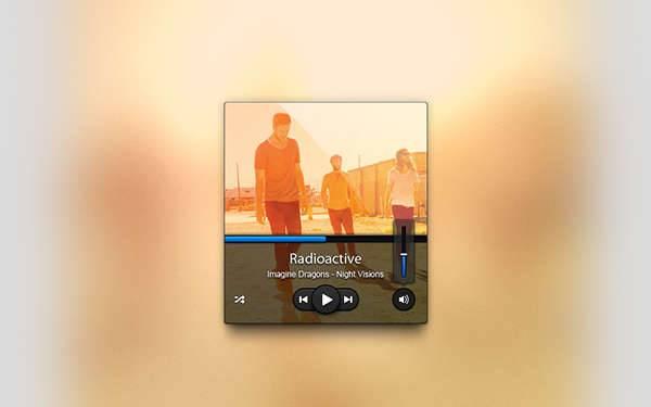 html5 music ui design