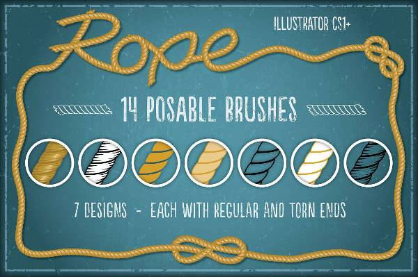 Illustrator Rope Brushes