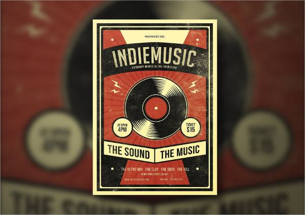 Indie Vintage Flyer Poster