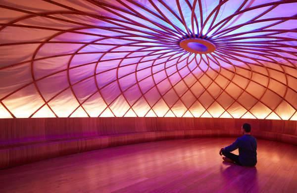 inside the fabulous meditation dome