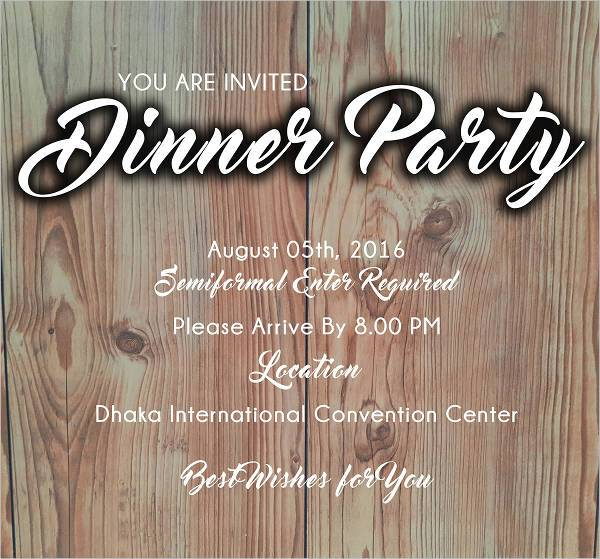 Invite Dinner Party Flyer