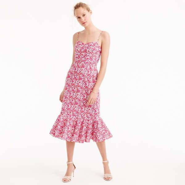 J.Crew Ruffle Midi Dress