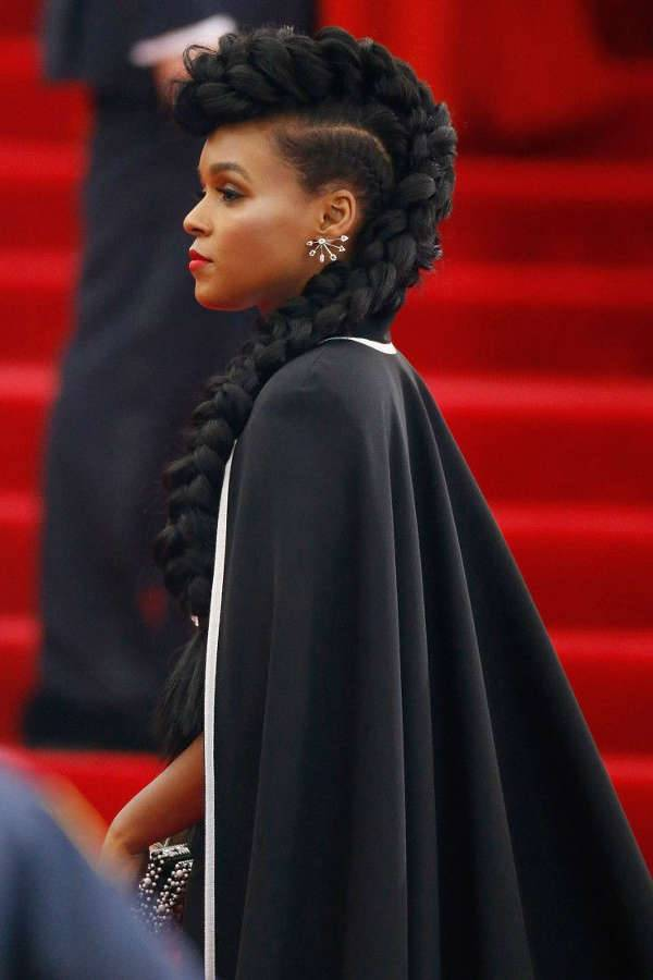 Janelle Monáe's French Mohawk Braid Hairstyles