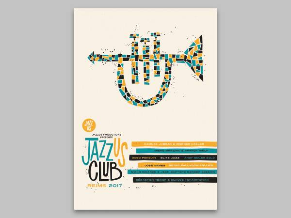 jazz club event poster