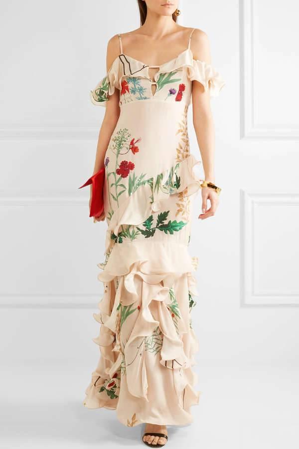 Johanna Ortiz Printed Silk Gown