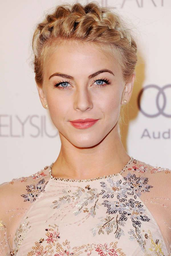 Julianne Hough French Braid Prom Hairstyle