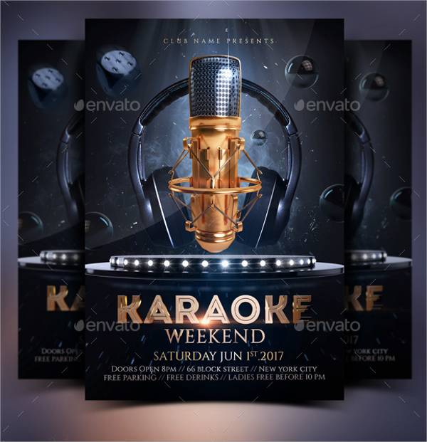 Karaoke Weekend Party Flyer