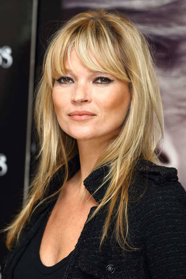 kate moss medium hairstyle with bangs
