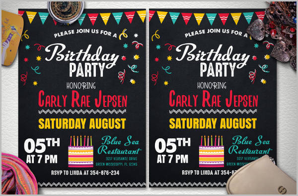 Kid's Birthday Invitation Flyer