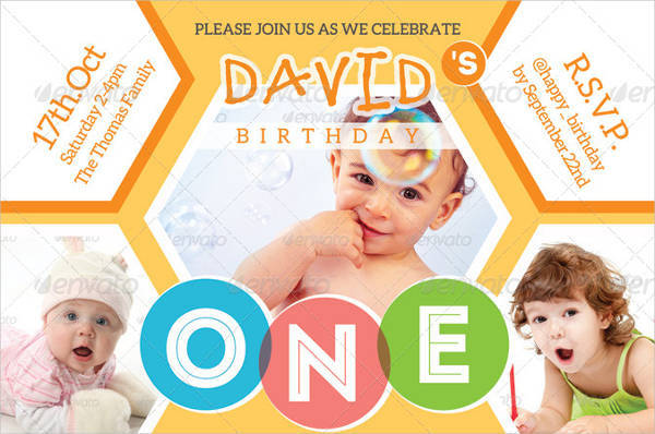 Kids Happy Birthday Invitation Card