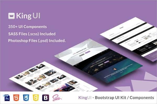 king bootstrap design ui kit
