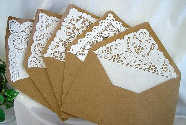 Lace Wedding Invitation Envelope